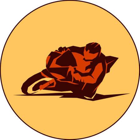 Vector motorbiker sport Illustration