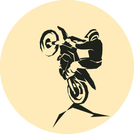 Motocross enduro hardenduro background Vector illustration.