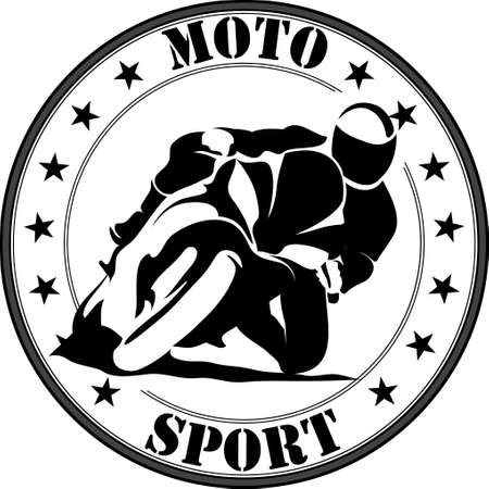 Vector illustration of motorcycle racer on sportbike Illustration