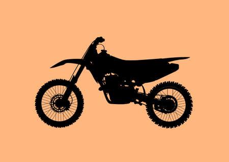 Sport fast motocross bike model Vector icon