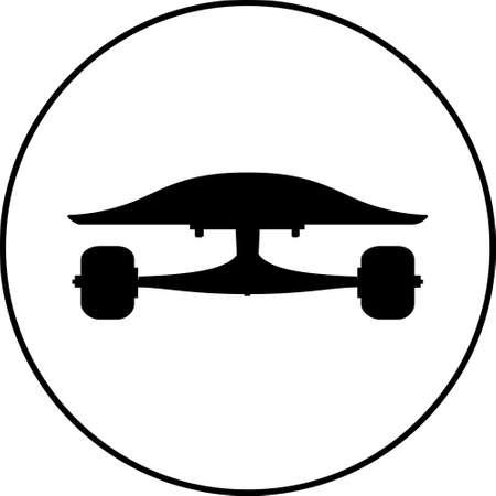 black skateboard flat silhouette design vector illustration.