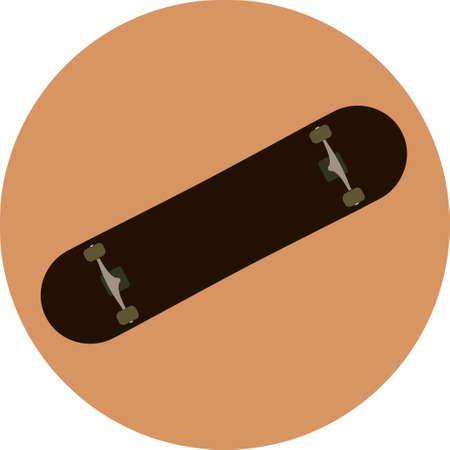 black skateboard grunge brutal design vector illustration.