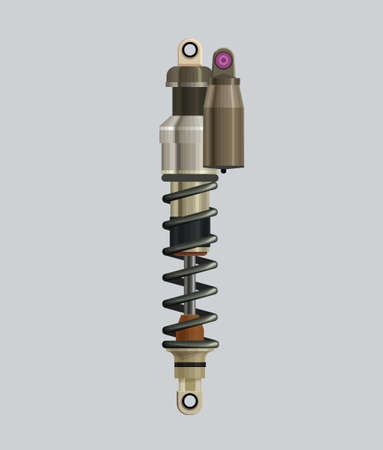 realistic hi detalisierd shock absorber isolated vector illustration