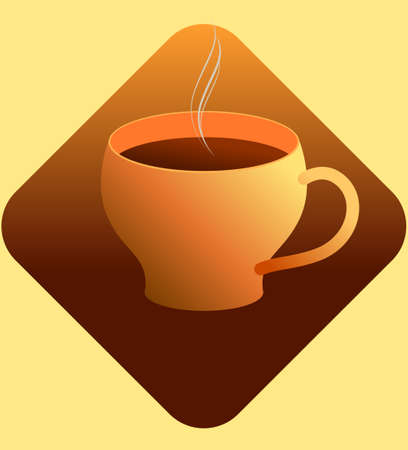 vector illustration of hot coffee cup drink