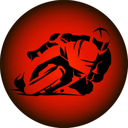 racer ride sportbike eps 10 vector isolated icon 向量圖像