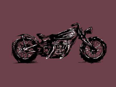 Emblem of biker club. 向量圖像