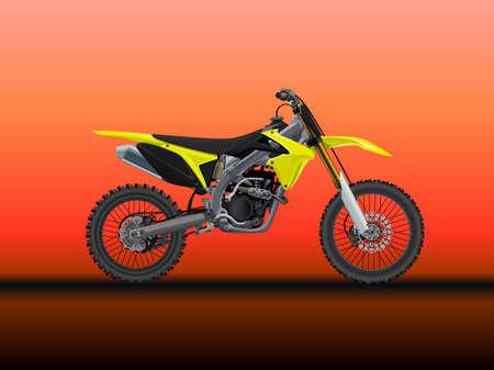 Sport moto offroad technical model. Vector icon 向量圖像
