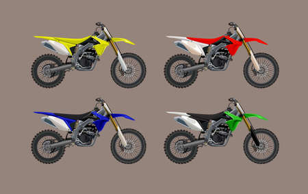 Sport motorcycle moto technic drawing. vector icon