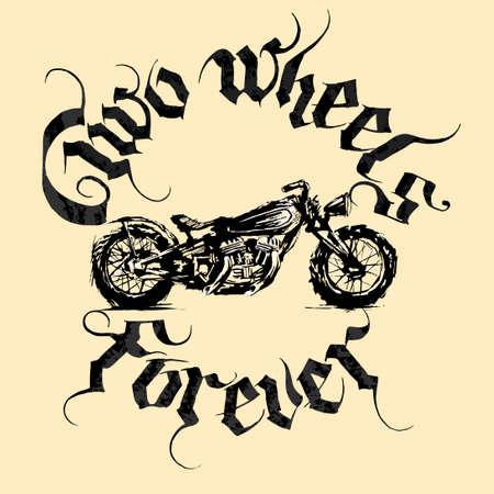 Motorcycle design over beige background, vector illustration.