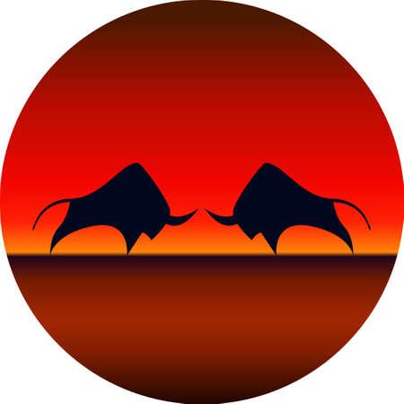 Vector of a bull design Logo, Symbol. Animal. Wildlife. Easy editable layered vector illustration.