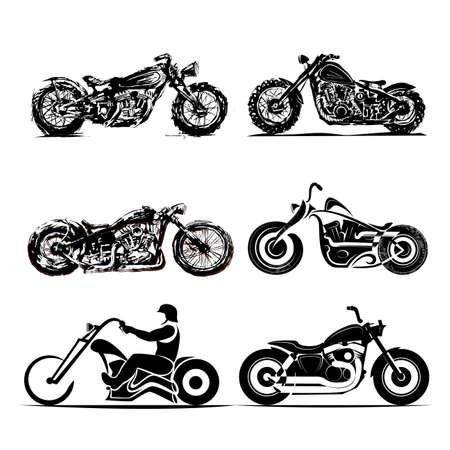 chopper motorcycle silhouette classic road motorbikes custom