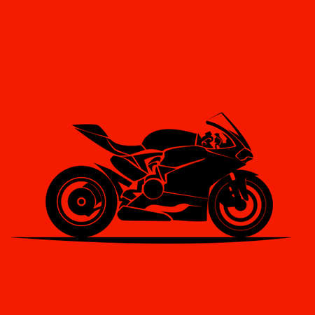 motorcycle model sportbike  vector isolated icon