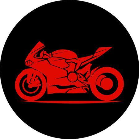 fast extreme sport bike vector eps10 illustration icon
