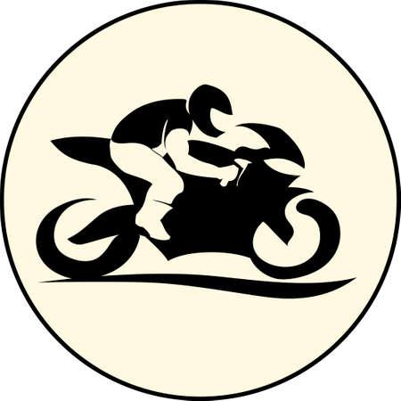 fast extreme sport bike vector illustration icon