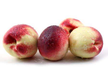 nectarines on white Stock Photo