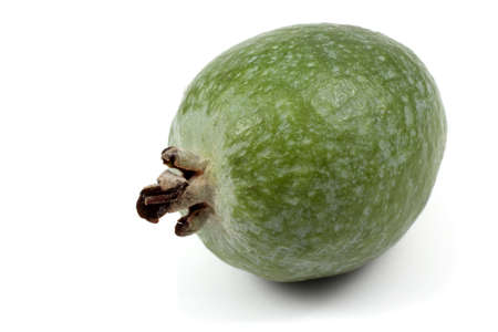 feijoa: Feijoa fruit isolated on white background Stock Photo