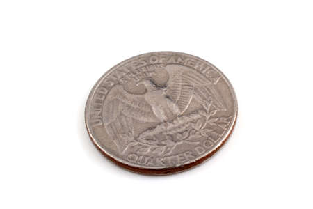 25 cents: Old quarter coin