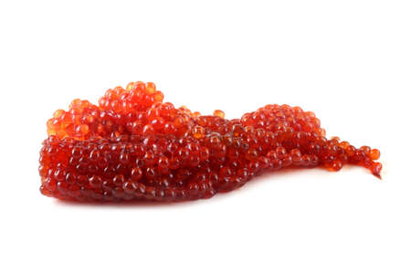 Red caviar isolated on white background 版權商用圖片