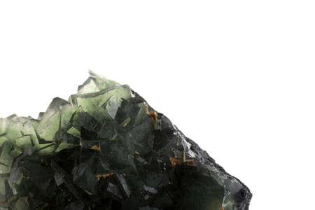 Green fluorite crystal