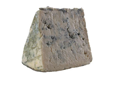 Blue cheese isolated on white Stock Photo