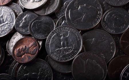 Coins background. American money Stok Fotoğraf