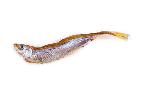 Dried smelt fish Stock Photo