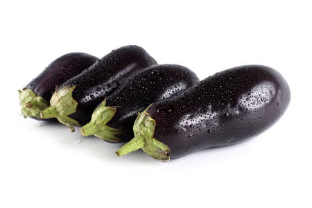 Aubergine isolated on white Imagens