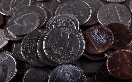 American coins background Stok Fotoğraf