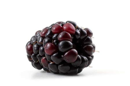 Blackberry isolated on white