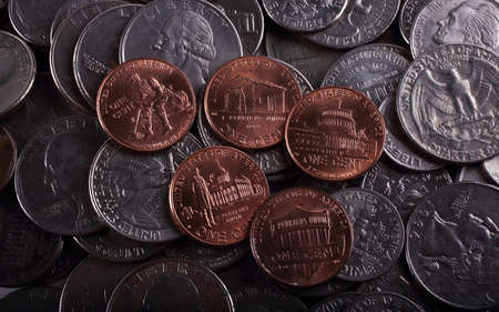 American coins background Reklamní fotografie