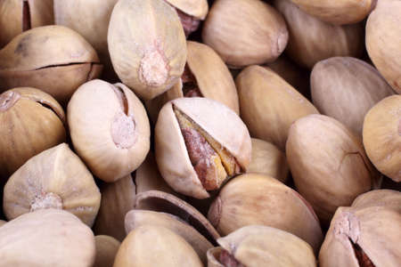 Salted pistachio nuts Imagens - 122136334