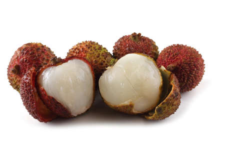 Lychee isolated on white Foto de archivo