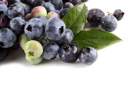Blueberries background. Berries and leaves Reklamní fotografie