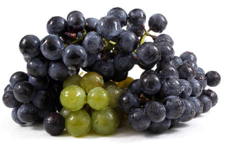Wine grape. Black and green. For red and white wines