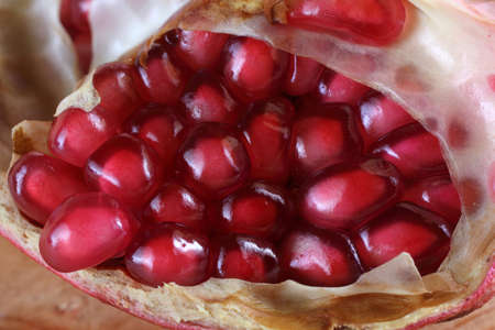 Pomegranate. Macro