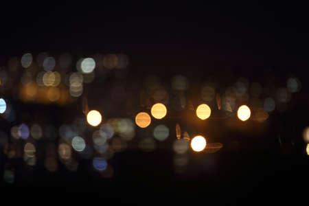 Night city lights. Bokeh background