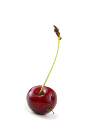 Red cherry isolated on white Archivio Fotografico