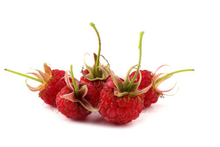 Raspberries isolated on white Archivio Fotografico