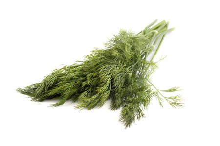 Dill bunch isolated on white