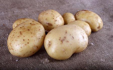 Potatoes on bagging