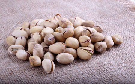 Pistachio nuts on bagging