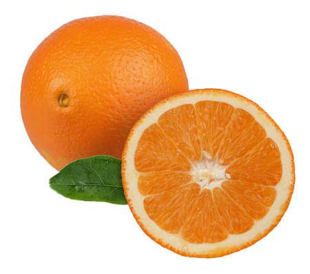 Orange with a half. Detailed retouch Archivio Fotografico
