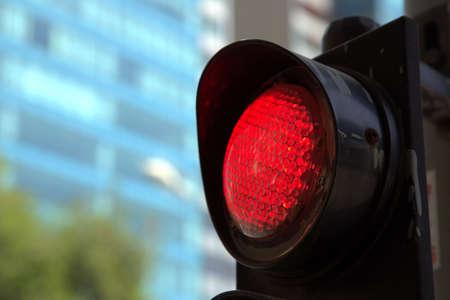 traffic light: Red traffic light in Saigon Stock Photo