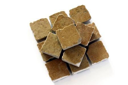 azulejos ceramicos: Pir�mide de Baldosas Cer�micas Foto de archivo