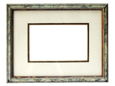 crimped: Vintage picture frame isolated on a white background