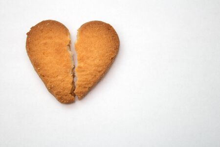 Tasty cookies in the form of broken hearts - a symbol of love
