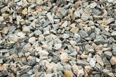 Small stones, gravel, granite Stock Photo