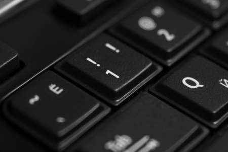 Black computer keyboard close up - symbol Banco de Imagens