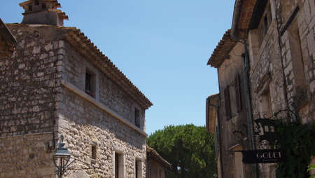 Beautiful elements of architecture and views of the city of Saint-Paul-de-Vence, Provence, France