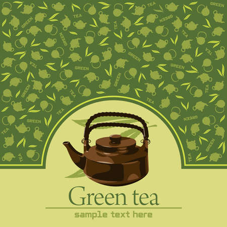 chinese tea: Green tea   Illustration